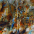 """Jazztresor"" - Öl auf Leinwand 130 x 200 cm (zweiteilig), 2011"