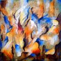 """""""Sommerwind"""" - Öl auf Leinwand 100 x 100 cm, 2012"""
