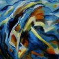 """""""Eingetaucht"""" - Öl auf Leinwand 130 x 110 cm, 2011"""