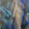 """Schwestern""- Öl auf Leinwand 130 x 100 cm, 2014"