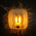 Leeuw of zon (wand-object) 50x50cm