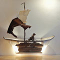 Schip (wand-object) 110x110x36cm