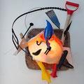 Ode aan Miró (wand-object) 70x50x45cm