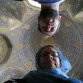 in der mitte der grössten moschee esfahans; masdjed-e shah