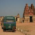 vor tempel in hampi, indien