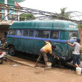 autowäsche in goa, indien