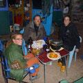 gemeinsames nachtessen mit den ostschweizer velofahrern