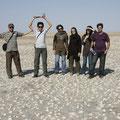 gruppenfoto auf dem salzsee