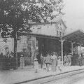 Bahnsteig 1 Bahnhof Bad Nauheim vor 1913, Foto: privat