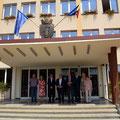Bundesbeauftragter Koschyk mit Delegation und Bürgermeister Danut Groza sowie dem stv. Bürgermeister Radu Asaftei (Quelle: www.koschyk.de)