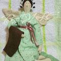 Банный Ангел в Зеленом халате. 40 cm