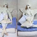 Банный Ангел с полотенцем )). 40 см.