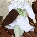 Банный Ангел в коричнево-салатовых тонах. 40 см.