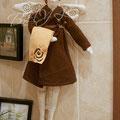 Банный Ангел в коричнево-оранжевых тонах. 40 см.