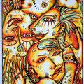 """Anja Mattenklott, """"Loveparade"""", 21 cm x 30 cm"""