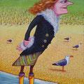 """Anja Mattenklott, """"Nase im Wind I"""", 50 cm x 70 cm"""