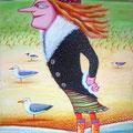 "Anja Mattenklott, ""Nase im Wind III"" , 50 cm x 70 cm"