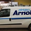 Beschriftung Firmenauto Elektro Arnold