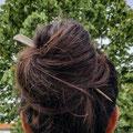pic à cheveux simple en bois
