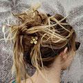 pic à cheveux ( ou épingle à cheveux ) double en métal ( laiton )