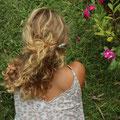 pic à cheveux avec perle fantaisie interchangeable