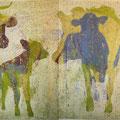 Öl auf Bütten, 55 x 200