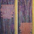 Öl auf Bütten, je 50 x 125