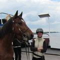 Mit der Fähre über die Elbe. Wanderritt im Wendland, 2013