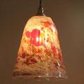 砂型ランプ(レッド×ホワイトちらし)¥15000