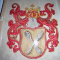 pianella di ceramica con stemma