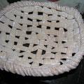cesto di ceramica realizzato a mano