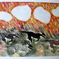 """Aus der Serie """"Wenn sie wüßten, wo das liegt, was sie suchen"""". 2004, 70 x 50 cm, Mischdrucktechnik"""