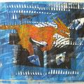 """Aus der Serie """"Wenn sie wüßten, wo das liegt, was sie suchen"""". 2004, 34 x 26 cm, Mischdrucktechnik"""