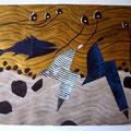 Aus der Serie Wellengang. Wellengang I, 2005 70 x 50 cm Mischtechnik