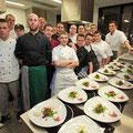 Stolz.....präsentieren sich die Kochauszubildenden mit ihrem Menü