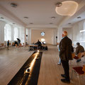multi channel inter media room installation and performance at Essen Piece Church - photo: Olaf Ziegler