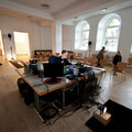 multi channel inter media room installation and performance at Essen Piece Church -photo: Olaf Ziegler