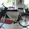 Werbung auf dem Fahrrad