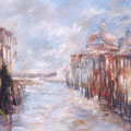 Venise - Canale Grande - San Gorgio  Huile sur toile