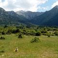 Berglandschaft des Peloponnes-Inlands