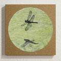 Libellenflug / Flight of the Dragonfly, Oil on Board, D22cm