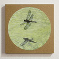Libellenflug / Flight of the Dragonfly, Oil on Board, D22cm
