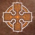 Croix celte fond brun