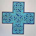 Croix d'Ulbster Stone bleu