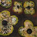 Flowers 9, oil on canvas, 20x20, Janet Hamilton