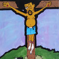 'The Crucifixion of Donell' 24x48, acrylic on canvas