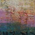 Abstract Landscape B, mixed media on canvas, 48x36, Janet Hamilton