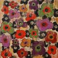 Flowers 3, oil on canvas, 36x36, Janet Hamilton