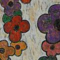 Flowers 15, oil on canvas,  36x60 Janet Hamilton