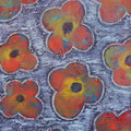 Flowers 10, oil on canvas, 40x30, Janet Hamilton